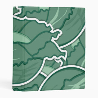 Funky green cabbage mini binder