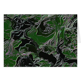 Funky Green Camouflage Greeting Card