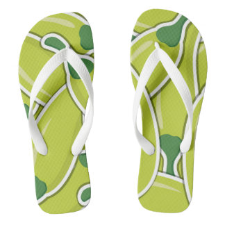 Funky green chilli peppers flip flops