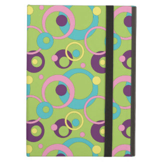 Funky Green Circles iPad Powis Case Cover For iPad Air