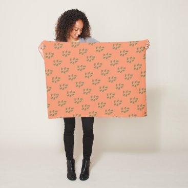 loscrazyavocados Funky Green Fern Pattern Blanket