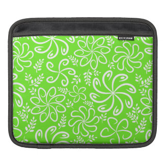 Funky green flowers and leaves iPad Sleeve