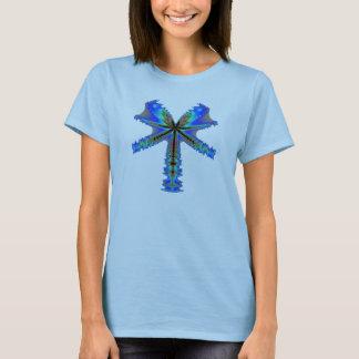 Funky green fractal dragonfly T-Shirt