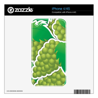 Funky green grapes iPhone 4 skin