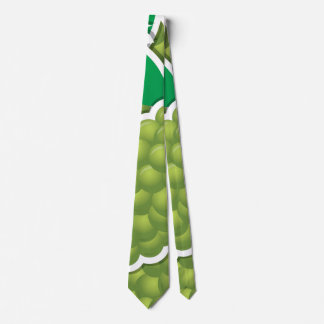Funky green grapes tie