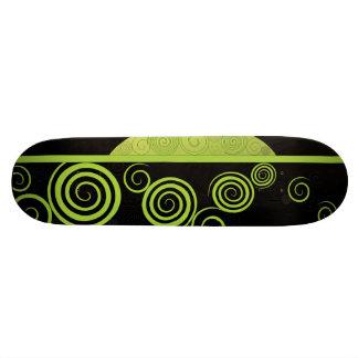 Funky Green Ornament Skateboard