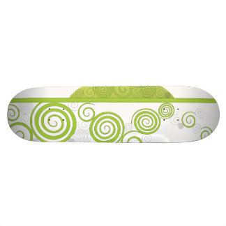 Funky Green Ornament Skateboard Deck
