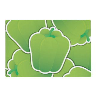 Funky green pepper placemat