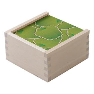 Funky green pepper wooden keepsake box