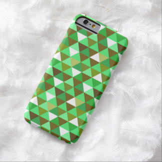 Funky Green Retro Triangles iPhone 6 Case