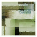 Funky Green Texture Poster