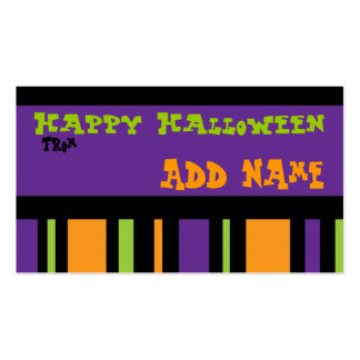 Funky Halloween Gift Tag Double-Sided Standard Business Cards (Pack Of 100)