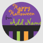 Funky Halloween Treat Label Stickers