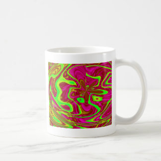 FUNKY HAPPY ABSTRACT COFFEE MUG