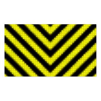 Funky Hazard Stripes Design Business Card