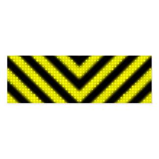 Funky Hazard Stripes Design Business Cards