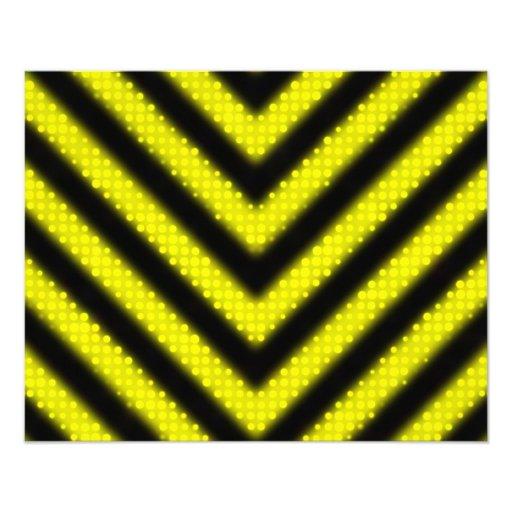 Funky Hazard Stripes Design Photo Art