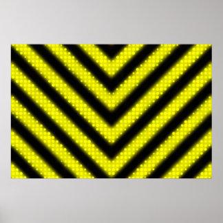 Funky Hazard Stripes Design Print