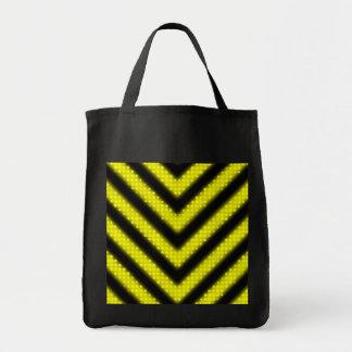 Funky Hazard Stripes Design Tote Bag