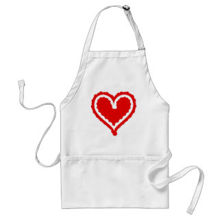 Funky Heart Adult Apron