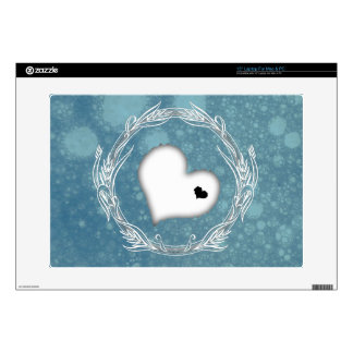 Funky Heart Design in Turquoise Bubble Sea Skins For Laptops