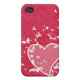 Funky Heart Pink  iPhone 4 Covers