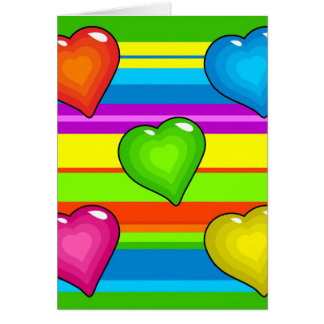 Funky Hearts Greeting Card
