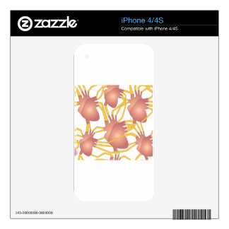 Funky Hearts iPhone 4S Skin