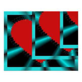 Funky Hearts Poster
