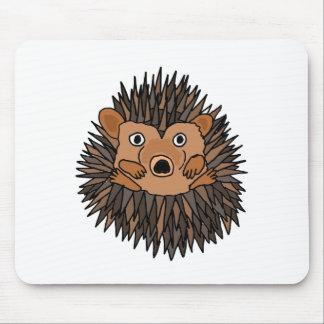 Funky Hedgehog Art Design Mouse Pad