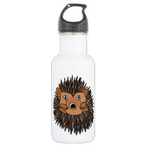 Funky Hedgehog Art Design Stainless Steel Water Bottle