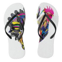Funky Hen Flip Flops