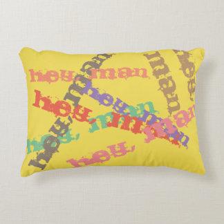 "Funky ""hey, man"" Retro Pillow"