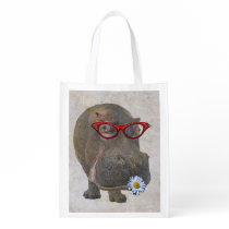 Funky Hippo Reusable Bag! Reusable Grocery Bag