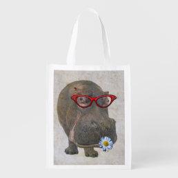 Funky Hippo Reusable Bag! Reusable Grocery Bag