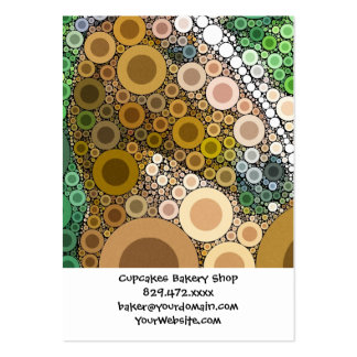 Funky Horse Circles Bubbles Modern Art Business Card Templates
