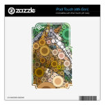 Funky Horse Circles Bubbles Modern Art iPod Touch 4G Decals