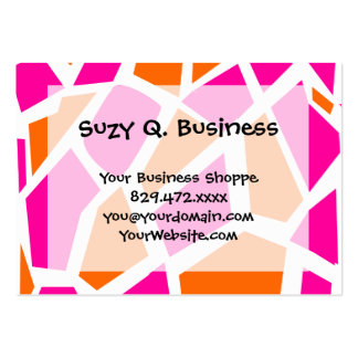 Funky Hot Pink Orange Giraffe Print Girly Pattern Business Cards