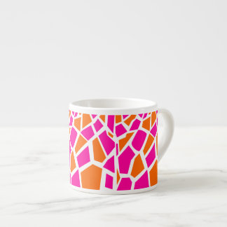 Funky Hot Pink Orange Giraffe Print Girly Pattern Espresso Cup