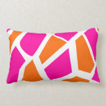 Funky Hot Pink Orange Giraffe Print Girly Pattern Throw Pillows