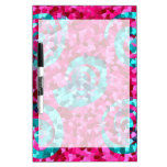 Funky Hot Pink Teal Blue Mosaic Swirls Girly Gifts Dry Erase Whiteboards