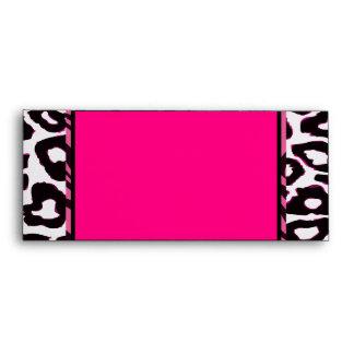 Funky Hot Pink Zebra Cheetah Set Envelopes