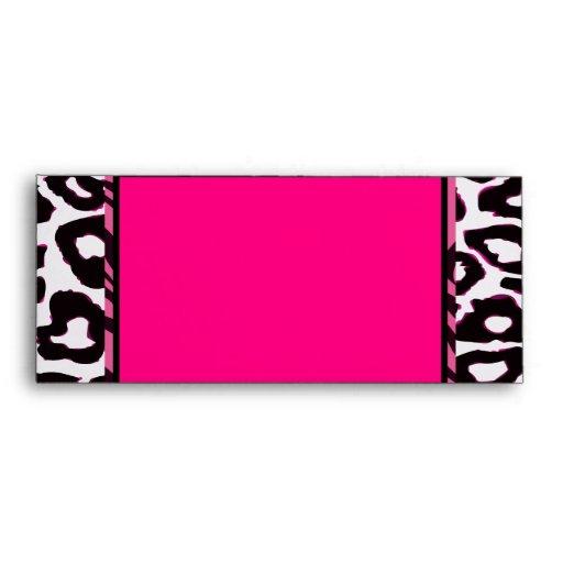 Funky Hot Pink Zebra Cheetah Set Envelope