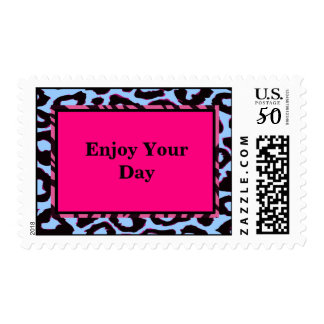 Funky Hot Pink Zebra Cheetah Set Postage
