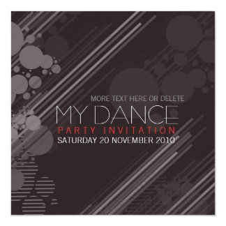 Funky House Dance Party Invitation