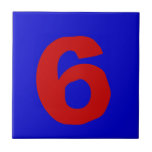 Funky House Numbers Tile