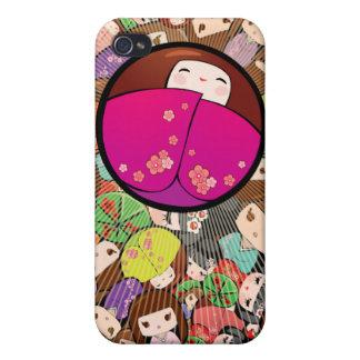 Funky Japanese Kokeshi Dolls Iphone Case