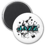 Funky Jazz 2 Inch Round Magnet