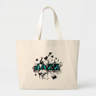 Funky Jazz Large Tote Bag