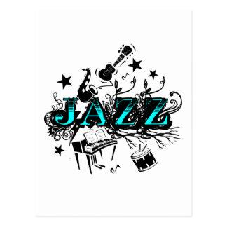 Funky Jazz Postcard